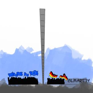 25°Anniversario della caduta del muro di Berlino